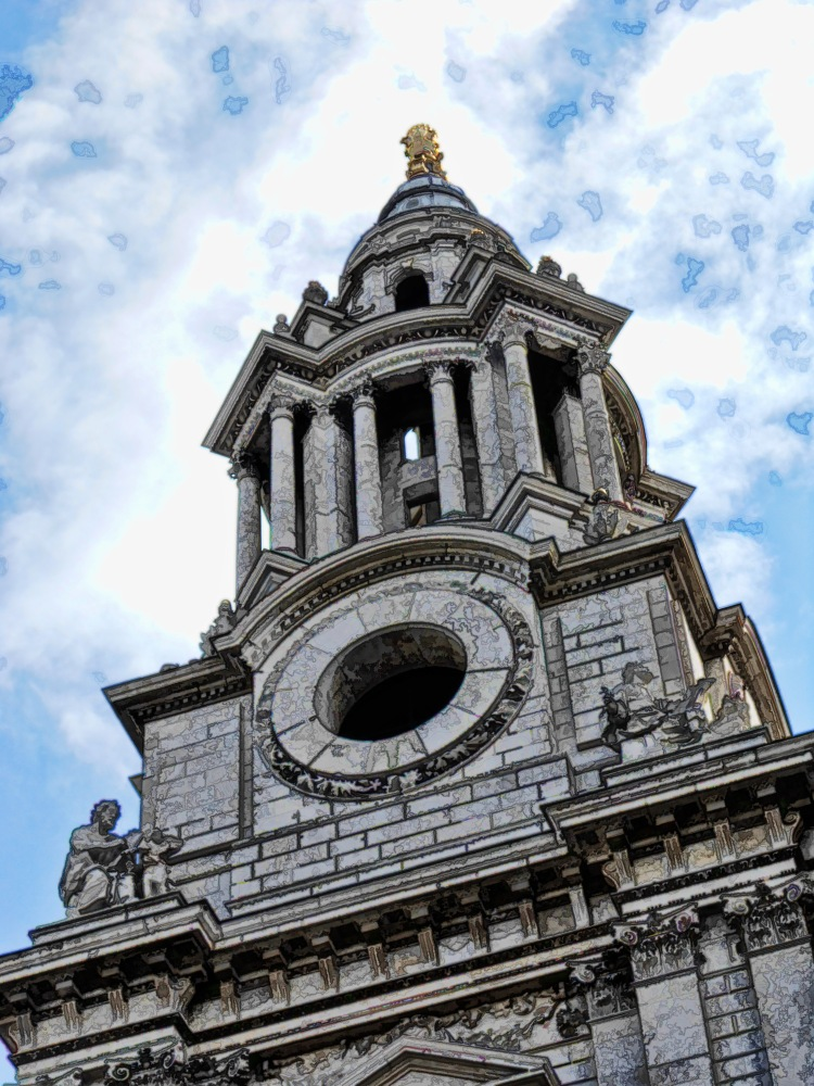 St.Pauls Cathedral Detail Sketch London