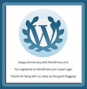 WP Anniversary 4 Year