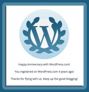 WP Anniversary 4 Year